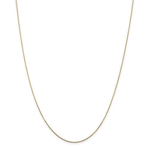 Diamond2deal 14K giallo oro .80mm cavo catena collana 50,8cm
