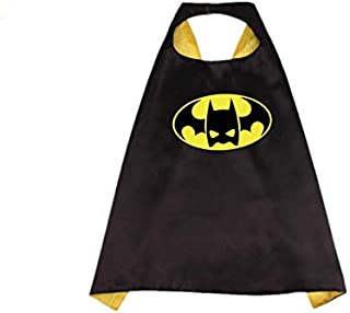 Double sided Kids or adults mini funny batman comic superhero costume with mask and cape