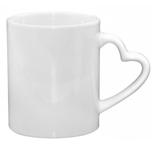 Caja de color blanco taza Corazón asa Class B impresión por sublimación, tazas de mejor