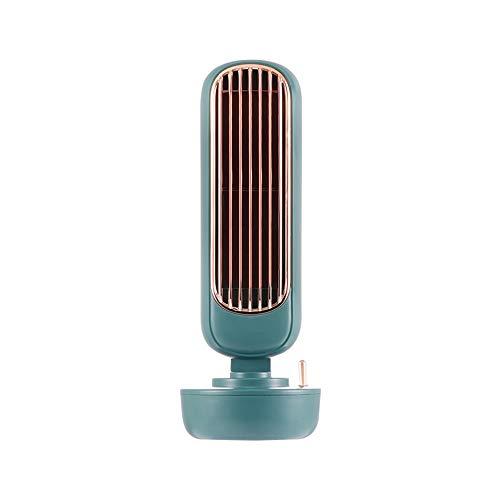 Blattloser kleiner Ventilator USB Mute kleiner Desktop-Luftbefeuchter Spray Kühlung Mini tragbarer kleiner elektrischer Ventilator Fanless Büro Student Schlafsaal Desktop Nachttisch stumm Schlafzimm