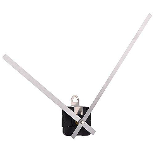 Alta Torsione Orologio Movimento al Quarzo Meccanismo Motore con 250 mm/ 9.8 Pollici Lunghe Lancette Diritte (Argento)