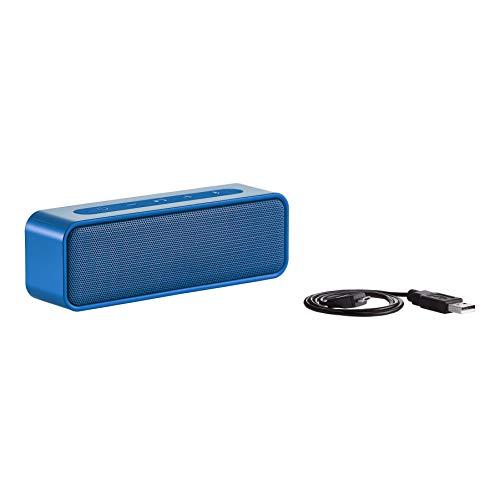 AmazonBasics - Altavoz estéreo bluetooth de 9 vatios con diseño resistente al agua, Azul