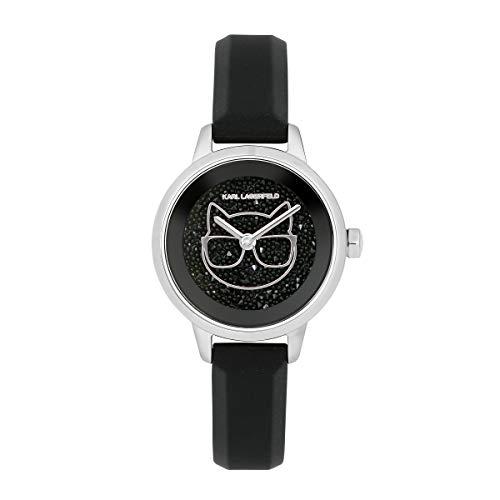 Karl lagerfeld Jewelry ikonik Damen Uhr analog Quarzwerk mit Silikon Armband 5513060