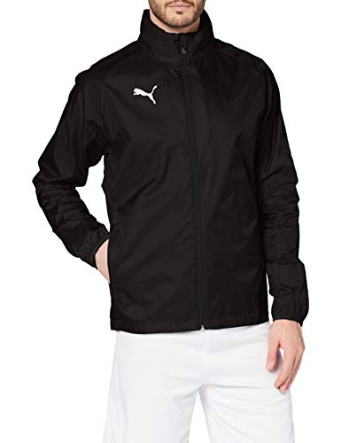 PUMA Herren Training Rain Jacket LIGA Core, Puma Black/Puma White, XXL, 655304