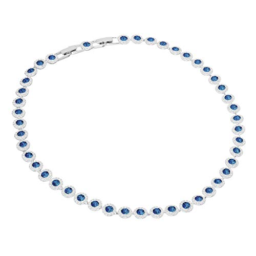 Swarovski Collana Angelic, Blu, Placcato Rodio