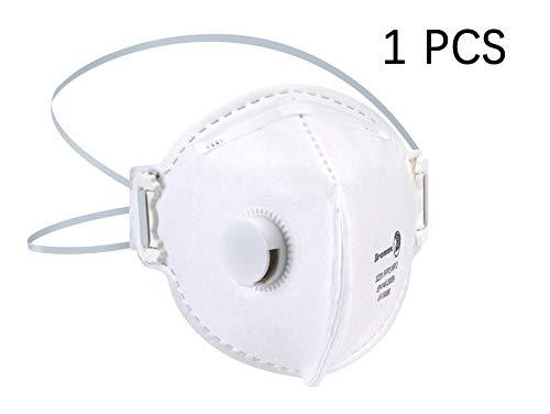 Garciasia DROMEX 3000 Masque SÉRIE N95, Masque respiratoire à filtre FFP3 98%, Masque de Protection contre la Grippe Anti-pneumonie PM2.5, fumée, poussière, ponçage, sciage, balayage(1PC)