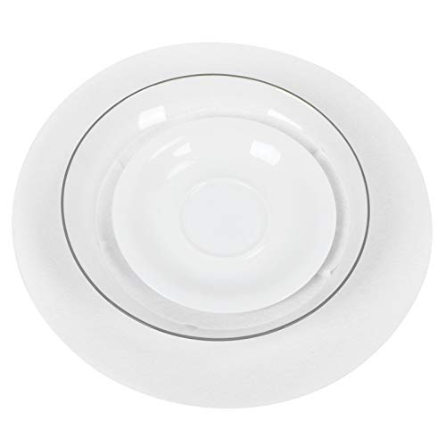 Chanmee Tapete para Platos, Protectores de Platos antifricción Resistentes al Desgaste, no tóxicos, para Vidrio de Porcelana(White, 24pcs)