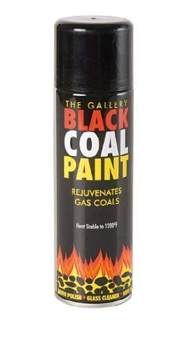 Black Coal Paint Spray for Gas COALS,Stove,Grate,Fireplace Wood OR Multi Fuel APPLIANCES,FIRE Backs,Basket,Pipe,Flue,BBQ,and DIY…