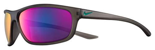Nike EV1157-033 Dash Sunglasses Anthracite/Clear Jade Frame Color, Grey with Teal Mirror Lens Tint