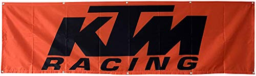 Daoops KTM Racing Flagge Motorrad Racing 6 x 2,4 m Banner