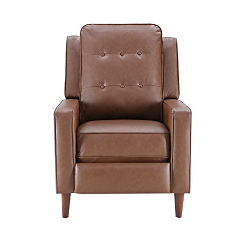 Z-COLOR Sillón de estilo medieval de cuero artificial reclinable Se puede inclinar a 135 grados con el reposapiés extendida y la función de inclinación para la oficina del dormitorio de la sala de est