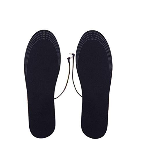 Distinct® 1 Paio di Soletta Riscaldante USB Scaldapiedi Elettrico Riscaldato Scaldapiedi per Scarpe Invernali Tagliabili per Uomo Donna (35-39 Iarde)