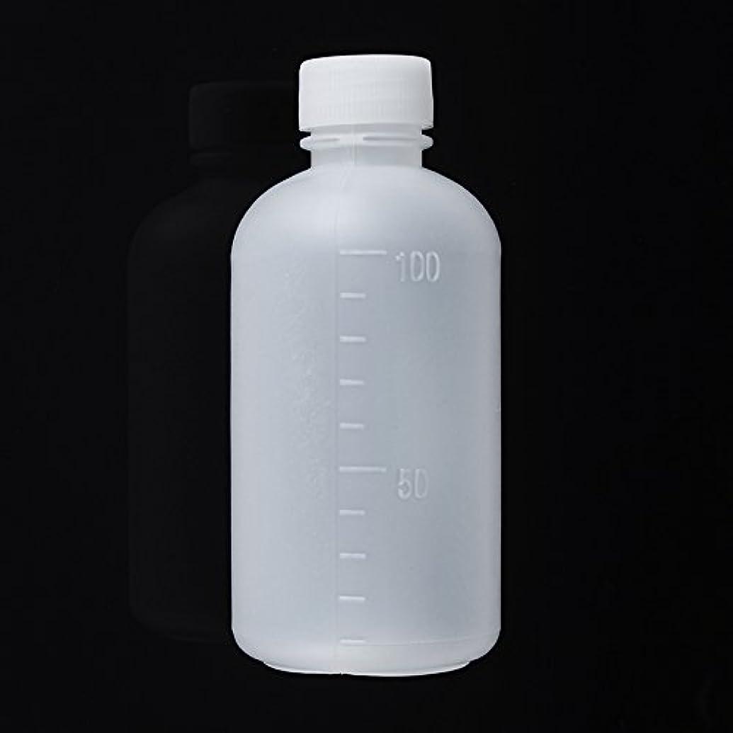 流暢確執完全にQueenwind 100mL 空のプラスチックサンプル試薬の液体の貯蔵のびんは小さい口の実験室の容器を卒業した