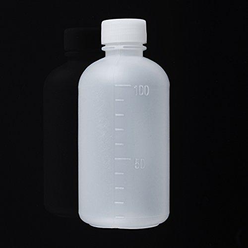 MASUNN 100mL Lege plastic monster reagens vloeibare opslag fles afgestudeerd kleine mond laboratorium container