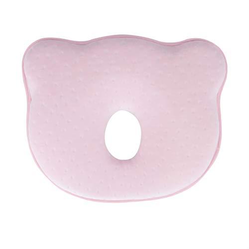 Coj/ín principal del beb/é que forma la almohadilla del beb/é de cabeza plana almohada suave esponja de la espuma Cabeza Cabeza apoyo protector para el reci/én nacido que duerme Caqui