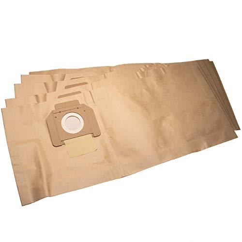 vhbw 5 Staubsaugerbeutel passend für Nilfisk Alto Attix 30, 30-01, 30-11, 30-21, 350, 350-01, 360, 360-11, 360-21 Staubsauger, Papier 66cm x 27.8cm