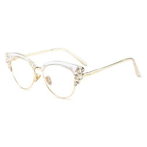 qiansu Transparente Linse Brillen | Lesebrillen | Mode Brillen | Dekor Brillengestell - Q19090506