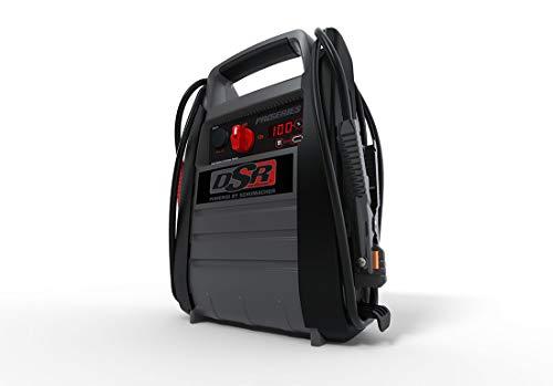 Schumacher DSR ProSeries DSR114 2200 Amp 12V Rechargeable AGM Pro Jump Starter Starts 10.0L - Gas 10.0L - Diesel vehicles 12V DC/USB Power for Charging Phones/Tablets