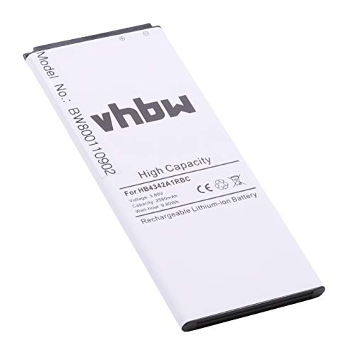 vhbw Li-Polymer Akku 2580mAh (3.8V) für Handy Smartphone Telefon Huawei SCC-U21, SCL-AL00, SCL-L00, SCL-L03, SCL-TL00H, Y6, Y6 Scale wie HB4342A1RBC.