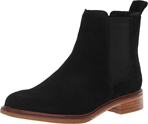 CLARKS Womens Clarkdale Arlo Chelsea Boot, Black Suede, Size 6.5