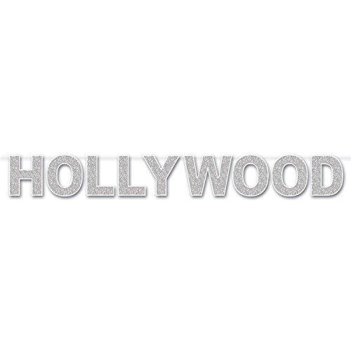 Beistle Serpentin Hollywood pailleté, Papier opalescent/Blanc/argenté, Taille Unique