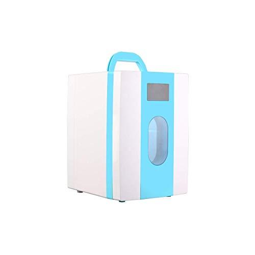 CNDY Kühlschrank Mini, Mini-Gefrierschrank, Kleiner Kühlschrank Kühlschrank, Essen, Getränke, Wein, Leichtgewicht, Kompakt, Blau-10L