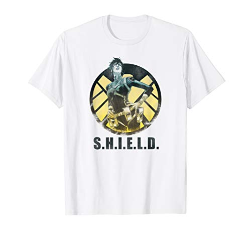 Marvel Agents Of S.H.I.E.L.D Maria Hill Distressed Comic T-Shirt