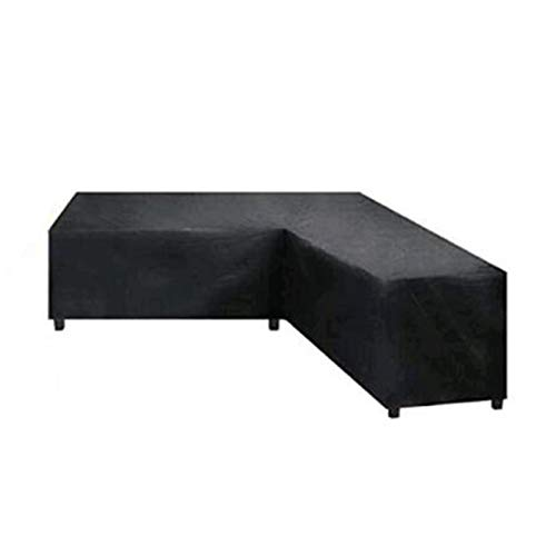 applemi Cubierta De Muebles De JardíN Funda De Sofá De Esquina En Forma De L 215 * 215 * 87Cm Tela Oxford Negra