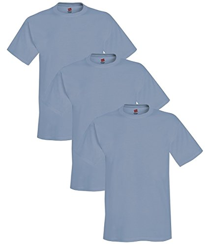 Hanes Adult ComfortBlend EcoSmart T-Shirt, Stonewashed Blue, M ( Pack of 3 )