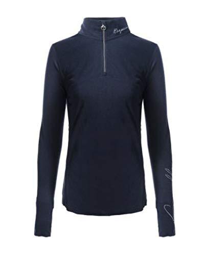 Cavallo RAJA dunkelblaue Melange Sweatshirt Shirt Longsleeve 2020, Größe:44