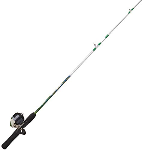 Shakespeare 1367024 Salamander Spincast Combo, 6, 1 Bearing, 4'6' Length, 2Piece Rod, Light, Pink, Right Hand