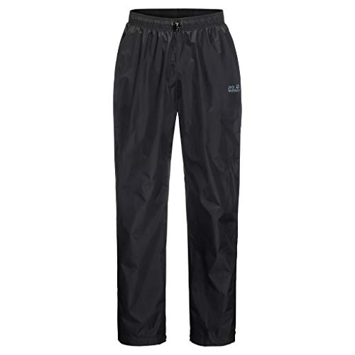 Jack Wolfskin Rainy Day Pants Regenhose, Black, L