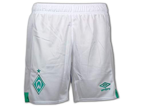 Umbro Unisex Kinder SV Werder Bremen Home 2018/2019 Shorts, weiß/grün, 158