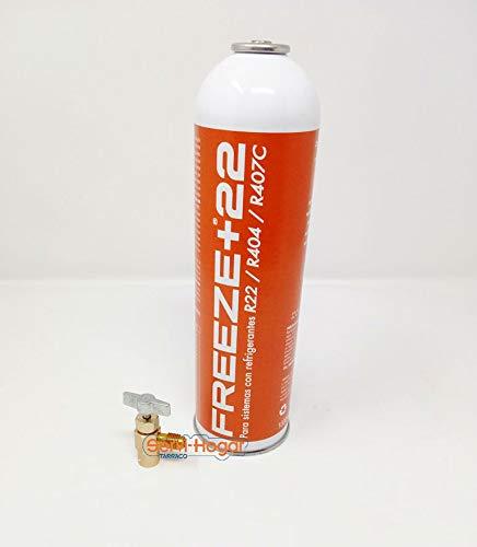 SERVI-HOGAR TARRACO® Gas refrigerante Freeze+22 R22, R404, R407, con llave botella