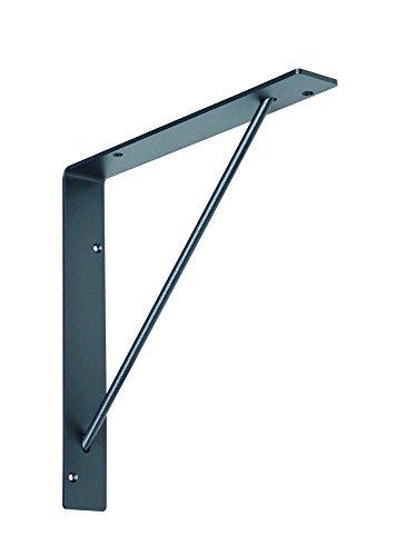 ウッドワン 棚柱用カナモノ サンカクブラケット ブラック 棚板奥行き250・300mm用 2個セット MKBTS-2D-K