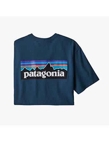 Patagonia M's P-6 Logo Responsibili-Tee, Maglietta Uomo, Cratere Blu, S
