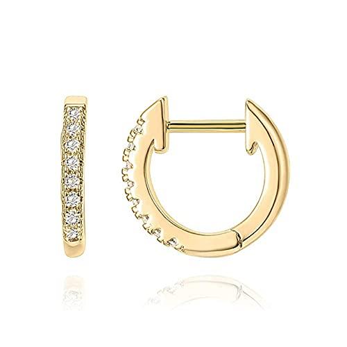 Yunyan Pendientes de plata 925 con personalidad, diamantes, joyas encantadoras, regalos para mujeres y niñas