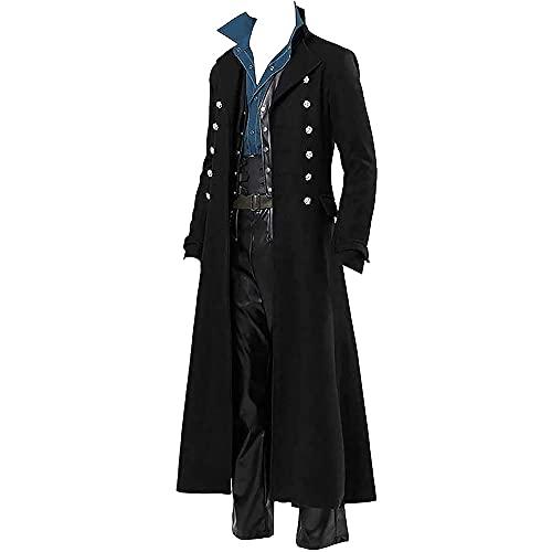 Disfraces de Halloween para Hombres Chaqueta gtica Steampunk Abrigo de FRAC Victoriano Abrigo del da de San Patricio Vintage