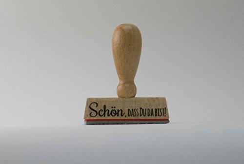 Unbekannt Stempel Schön,DASS Du da bist! Hochzeit, Gäste, Feier, Einladung, Konfirmation, Taufe,...