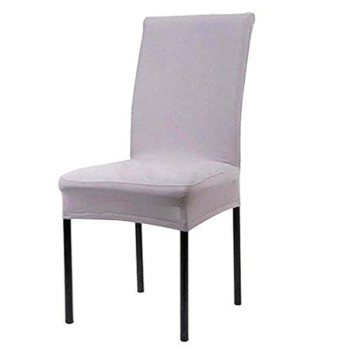 takestop® set van 2 stoelhoezen grijs Vesti stoelkussen elastisch voor SEDIE
