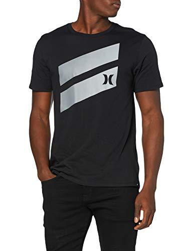 Hurley M Icon Slash Gradient S/S tee Camiseta, Hombre, Oil Grey
