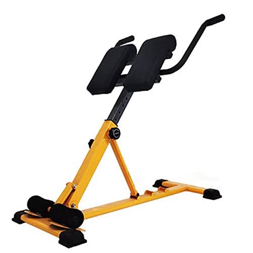 Regolabile Peso Panche 90 ° piano addominale posteriore sedia pieghevole iperestensione Romano Per Ab / Back Extension / dip stazione Multi-Workout Home Gym ( Colore : Yellow , Size : 47x104x93cm )