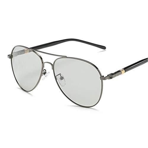 SHENY Gafas De Sol Hombre Polarizado Retro Piloto Fotocromático Uv400 Gafas De Sol De Conducción Gafas De Sol De Espejo Vintage Pistola Fotocrómica