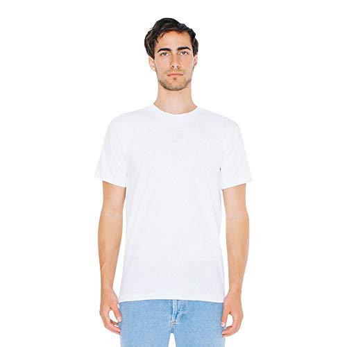 American Apparel Unisex-Erwachsene Fine Jersey Crewneck Short Sleeve, 2-Pack T-Shirt, weiß, Small