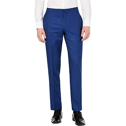 Ryan Seacrest Distinction Mens Striped Side Suit Seperate Dress Pants Blue 34/34