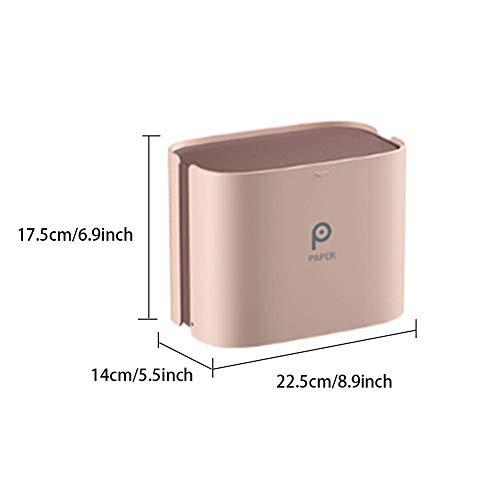 SEESEE.U - Portarrollos de papel higiénico, caja de pañuelos magnética, plegable, dispensador de toallas de papel, cubierta resistente al polvo, caja de almacenamiento/para baño cocina