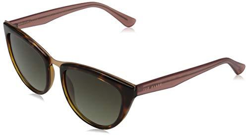 Ted Baker Sunglasses Damen Petrine Sonnenbrille, Tortoise, 55/19-145