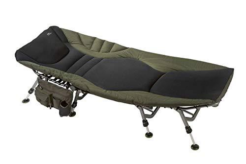 Sänger Top Tackle Systems Unisex– Erwachsene Anaconda Kingsize Bed Chair Karpfenliege, Schwarz-Grau-Grün, Liegefläche: 205 x 95cm