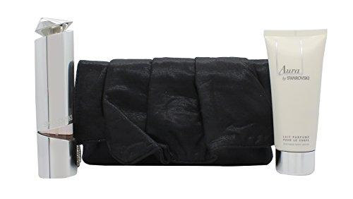 Swarovski Aura Geschenkset 50ml Wiederbefüllbares EDP + 100ml Body Lotion + Tasche