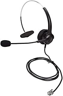 Fixed Phone Headphones/Audicom Call Center Headphones with MIC for Cisco Unified Phone IP Phones (Black)